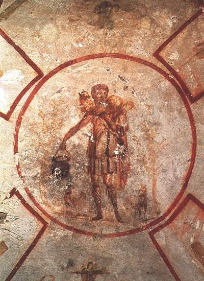 The Good Shepherd (Pastor Bonus), Catacomb of St. Callixtus, Rome