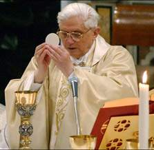 Pope Benedict at Mass
