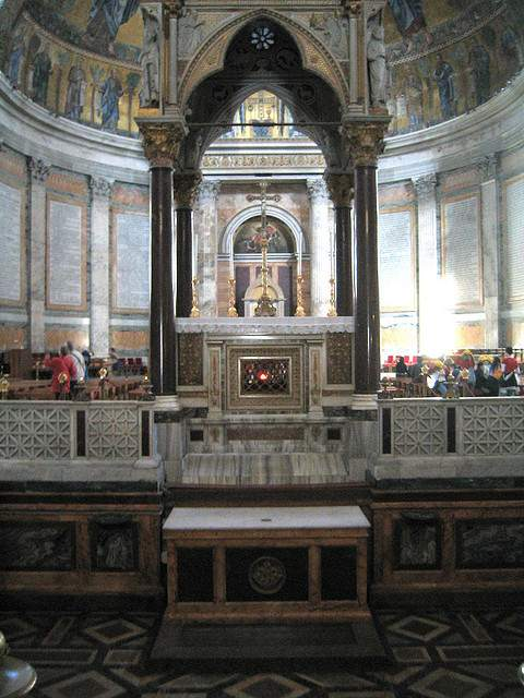 The high altar of St. Paul outside the Walls