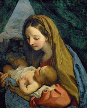 Madonna and Child, by Carlo Maratta (c. 1660).