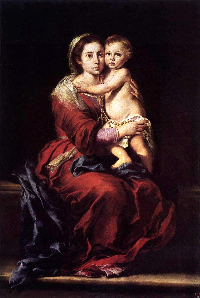 Virgin and Child with Rosary, 1655 (Murillo)