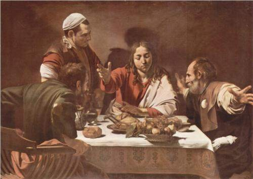 Caravaggio, Supper at Emmaus (1602)