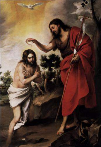 Murillo, Baptism of Christ (c. 1665)