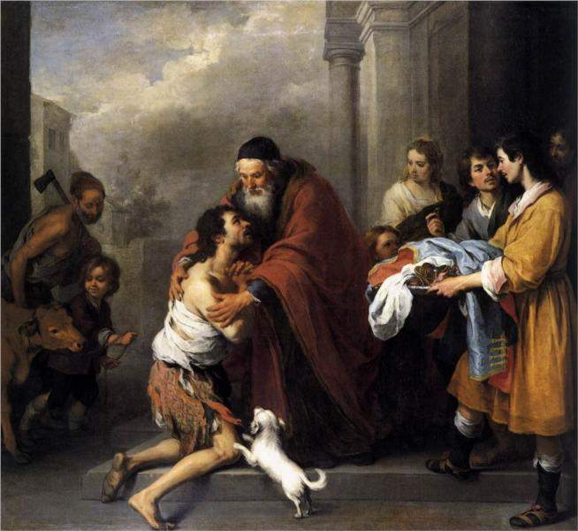 Murillo, Return of the Prodigal Son 1670