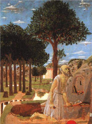 Piero della Francesca, The Penance of St. Jerome (c. 1450)