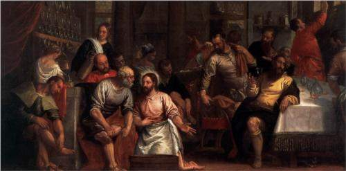 Veronese, Christ Washing the Feet of the Disciples (1580s)