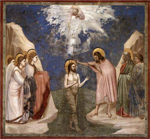 Giotto, The Baptism of Christ (c. 1305)