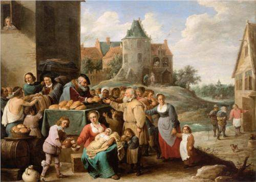 The Works of Mercy, by David Teniers the Younger