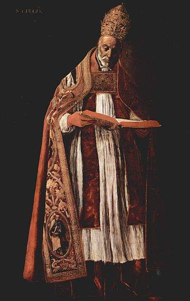 Gregory the Great, by Francisco de Zurbarán (1627).