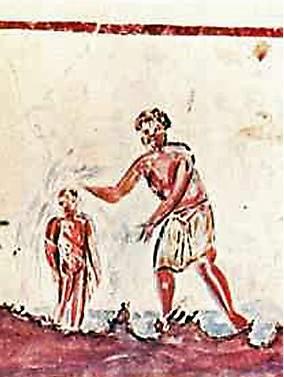 Baptism, Catacomb of St. Callixtus