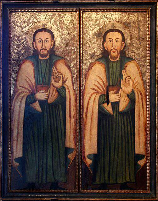 Saints Damian and Cosmas, icon