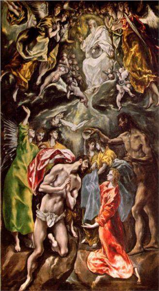 El Greco, Baptism of Christ (c. 1608)