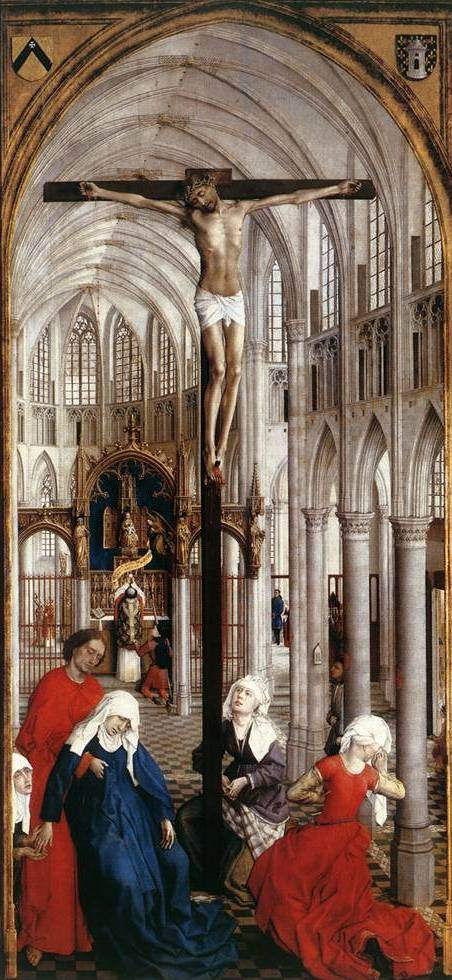 van der Weyden, Seven Sacraments Altarpiece (1450), center panel