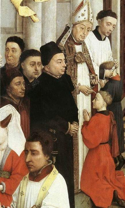 Confirmation from Seven Sacraments Altarpiee (der Weyden)