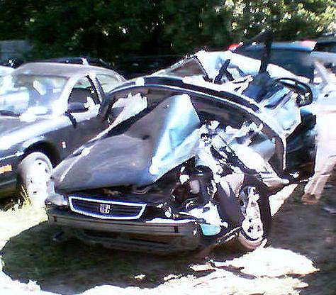Wrecked Honda Civic