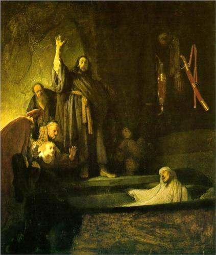 Rembrandt, The Raising of Lazarus (1630)