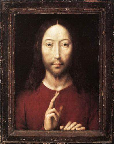Hans Memling, Christ Giving His Blessing (1481)