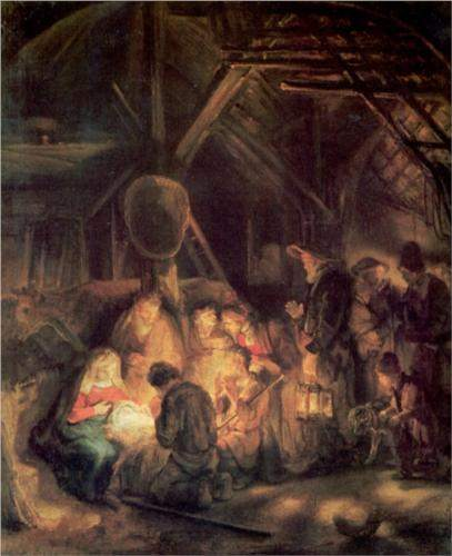 Rembrandt, Adoration of the Shepherds (1646)