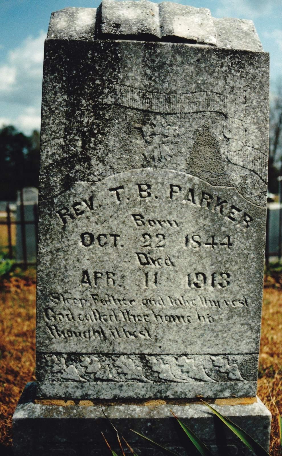 T.B. Parker grave