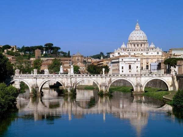 The Vatican over the Tiber