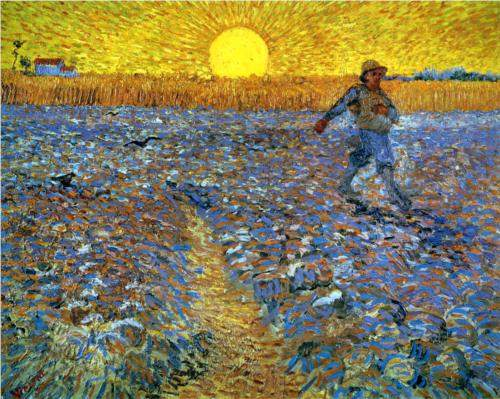 The Sower (Sower with Setting Sun) (1888), by Vincent Van Gogh. (WikiPaintings.org)
