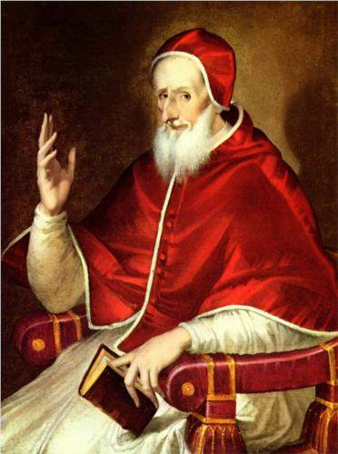 El Greco, Portrait of Pope Pius V (c. 1605)