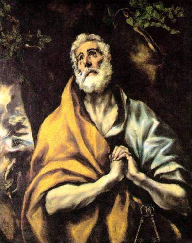El Greco, The Repentant Peter (c. 1600)