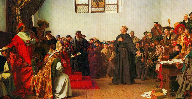 Von Werner, Luther before the Diet of Worms