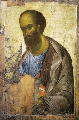 The Apostle Paul, by Andrei Rublev (c. 1410)