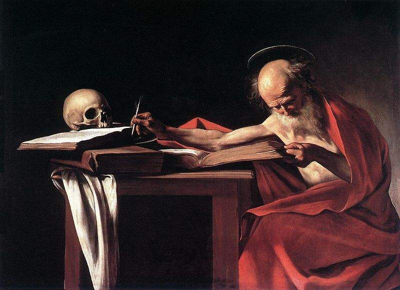 St. Jerome Writing (1606), Caravaggio. (Wikimedia)