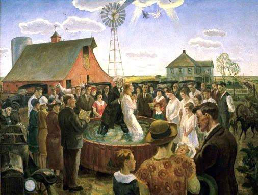 Baptism in Kansas (1928), by John Steuart Curry
