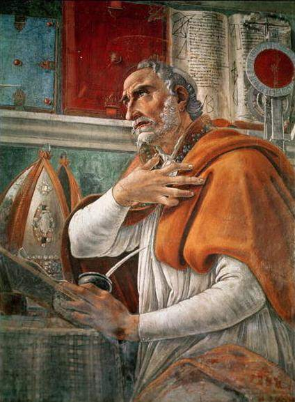 Saint Augustine in His Study, by Botticelli.