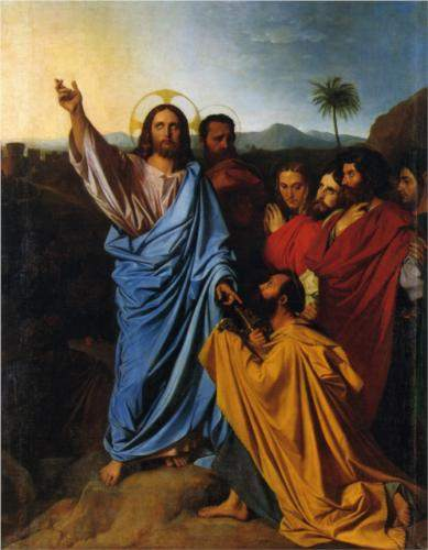 Ingres, Jesus Returning the Keys to Peter