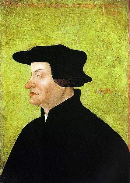 Ulrich Zwingli, by Hans Asper (ca. 1531)