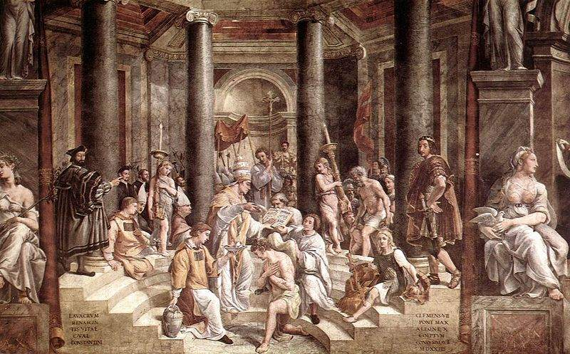 Baptism of Constantine (1520–1524), by the school of Raphael