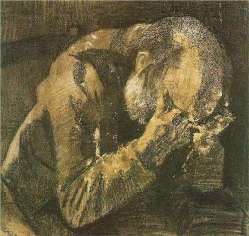 Van Gogh, Man with His Head in His Hands