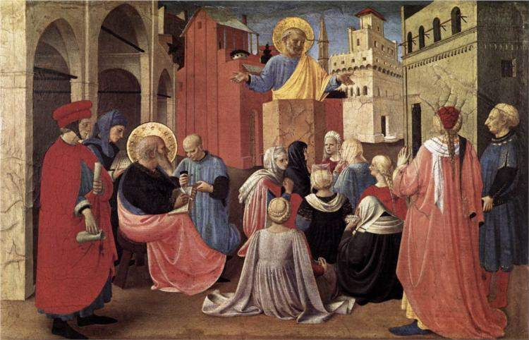 Fra Angelico, St. Peter Preaching in the Presence of St. Mark (c. 1433)