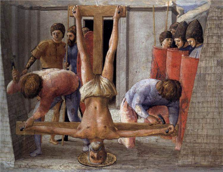 Masaccio, The Crucifixion of St. Peter