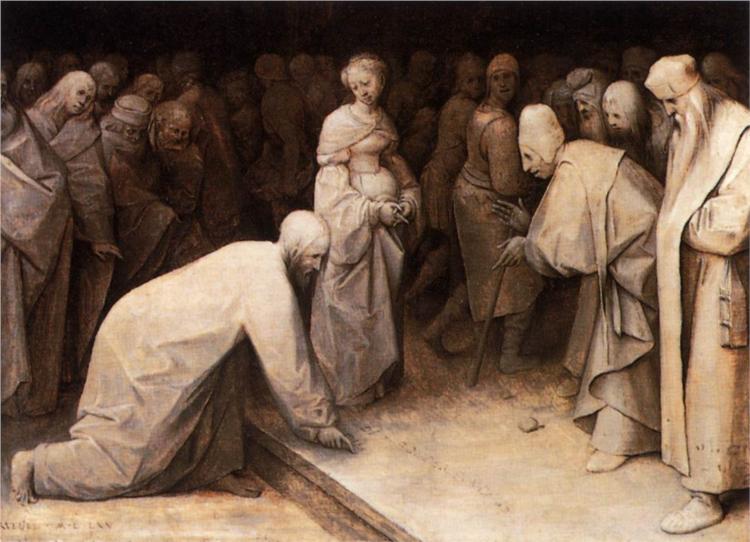 Christ and the Woman taken in Adultery, Pieter Bruegel the Elder
