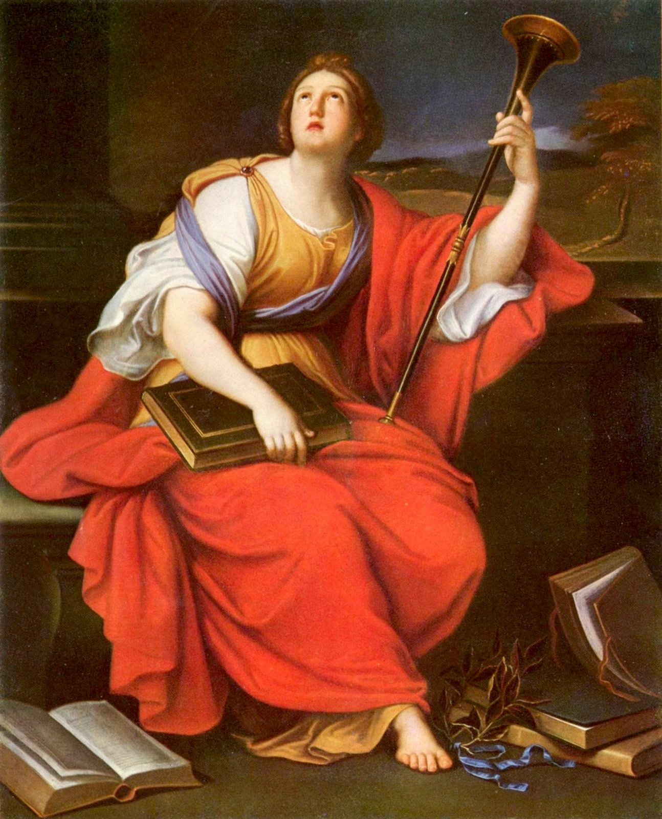 Clio, muse of heroic poetry and history, by Pierre Mignard, 17th century.