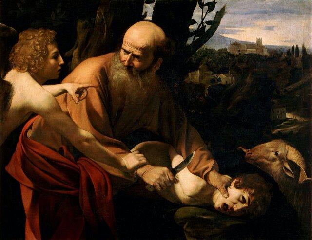 Caravaggio. The Sacrifice of Isaac. 1603.