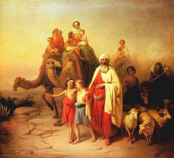 Josef Molnar. Abraham's Journey. 1850.