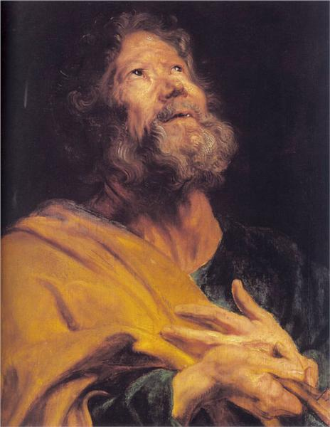 Anthony Van Dyck, the Pentinent Apostle Peter (1618)