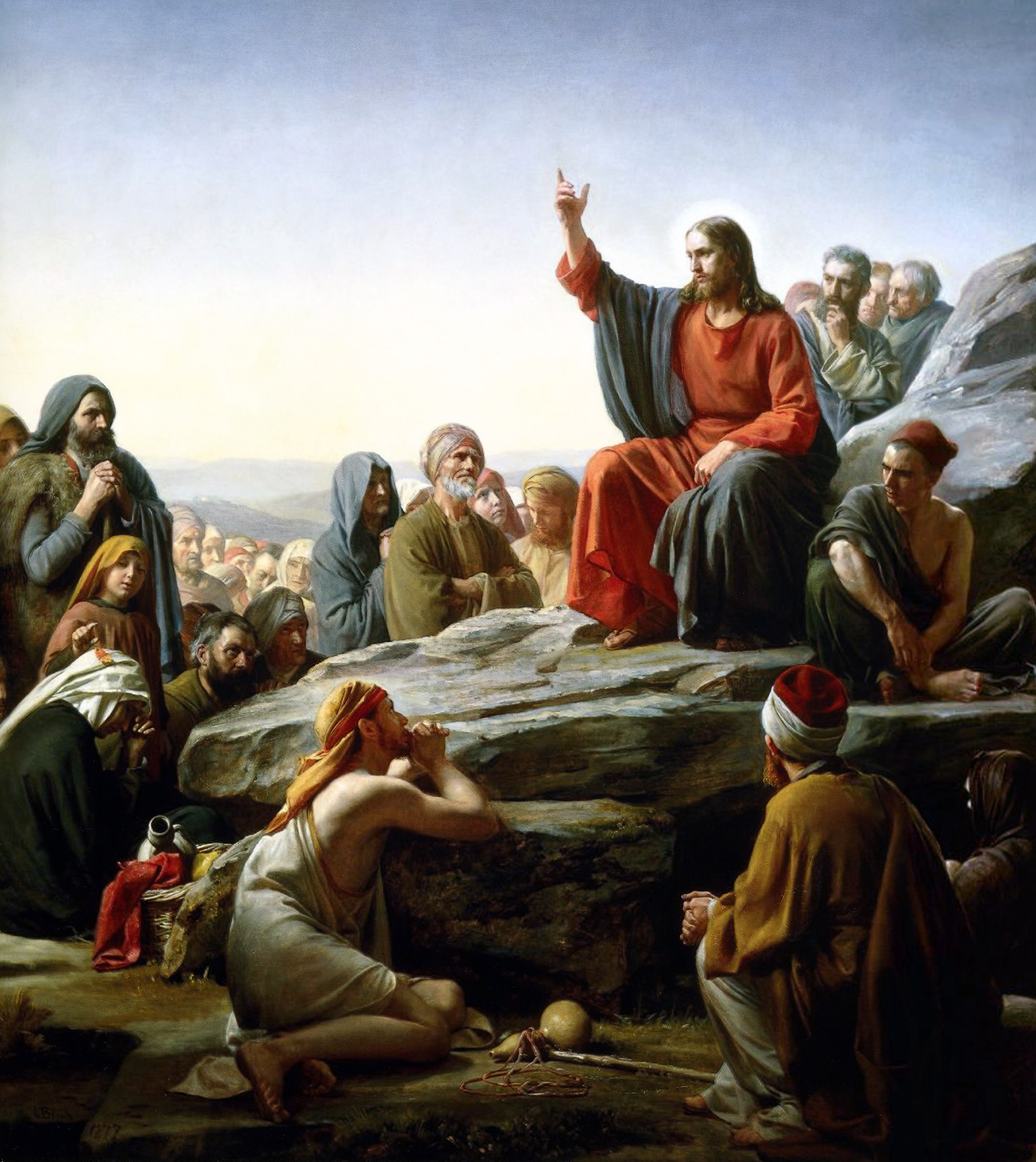 The Sermon on the Mount (1877), by Carl Heinrich Bloch