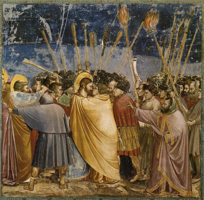 Giotto, The Arrest of Christ (The Kiss of Judas), c. 1306