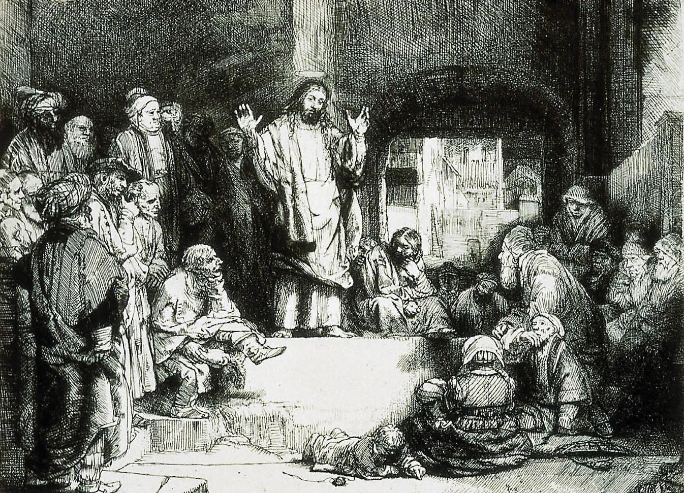 Christ Preaching (1652), by Rembrandt.