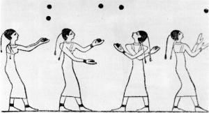Egyptians juggling