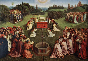 Jan van Eyck, Ghent Alterpiece: Adoration of the Lamb