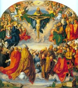 "Albrecht Dürer, Adoration of the Holy Trinity (1511) (<a href=""http://commons.wikimedia.org/wiki/File:Adora%C3%A7%C3%A3o_da_Sant%C3%ADssima_Trindade.jpg"">Wikimedia</a>)"