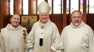 Bishop, priest, and deacon